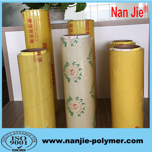 Nan Jie pvc plastic food wrapping film rolls for wholesale
