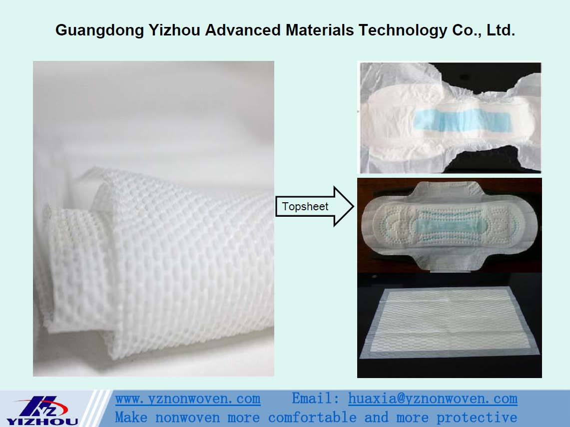hydrophilic embossed pearl pp spunbond nonwoven fabric for topsheet of bady diaper