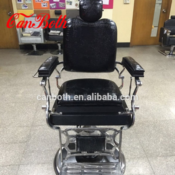 Black antique vintage barber chair haircut chair with barber chair headrest CB-BC003