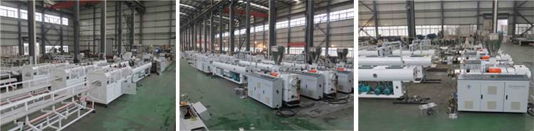 PVC double pipe production line