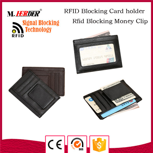 Fashion rfid blocking card holder wallet