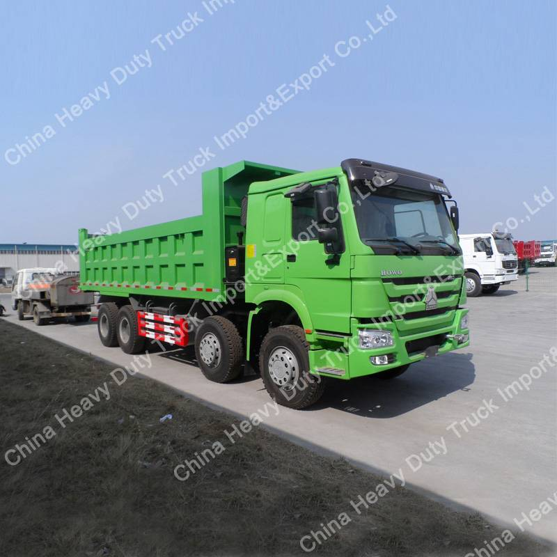 Sinotruk Brand Euro 2 Diesel Engine 371HP 8X4 Dump Truck