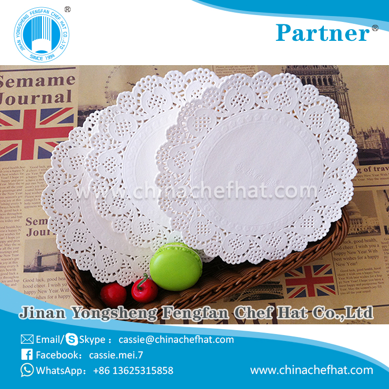 Eco-friendly various designs available wholesale doily round paper doily 2017