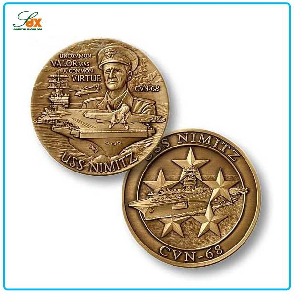 Cheap 3D Embossed Military Navy Challenge Coins