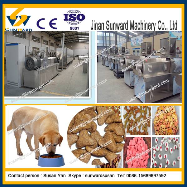 China factory wholesale price dry dog food extruder  machine dog food pellet making machine