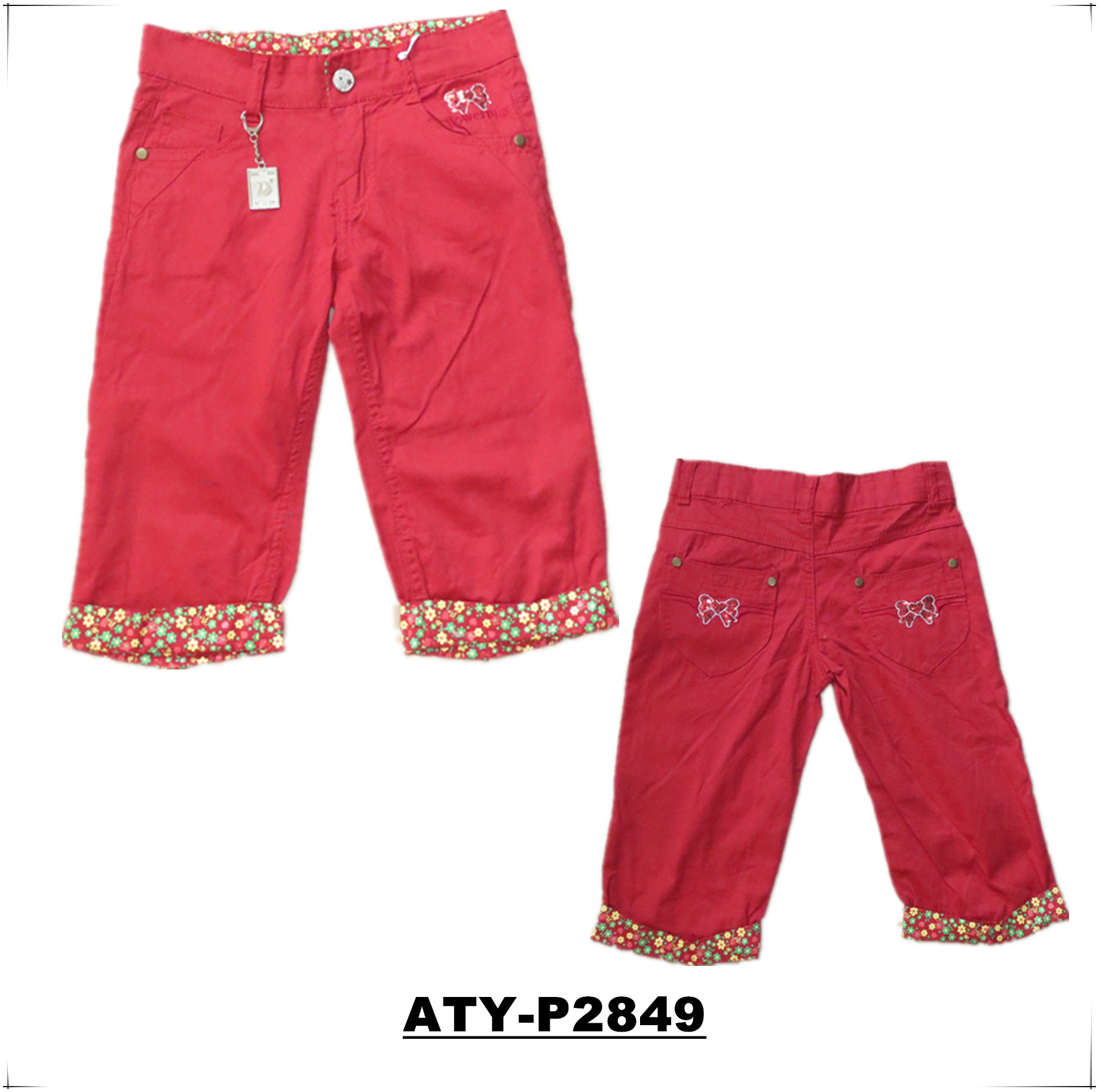 kids girls woven pants, kids wear 2018