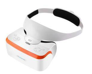 vr machine VR Virtual Reality 3D glasses mobile theater white yellow edge stand-alone