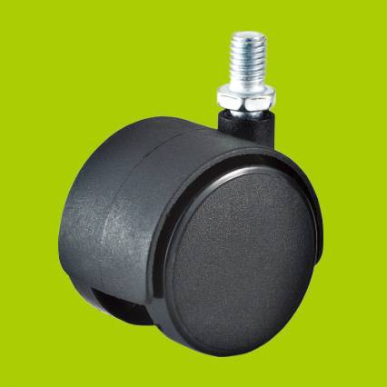 threaded stem swivel nylon furniture casters wheels without brake