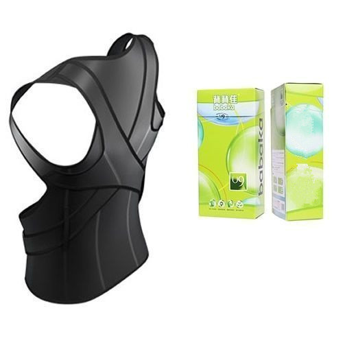 Adjustable vest to correct posture with back brace lumbar support