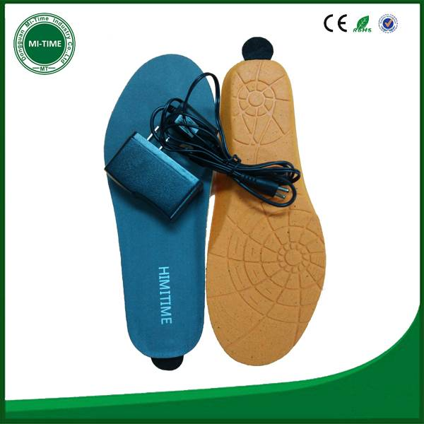 design customize mobile phone insole, bluetooth warm winter insole
