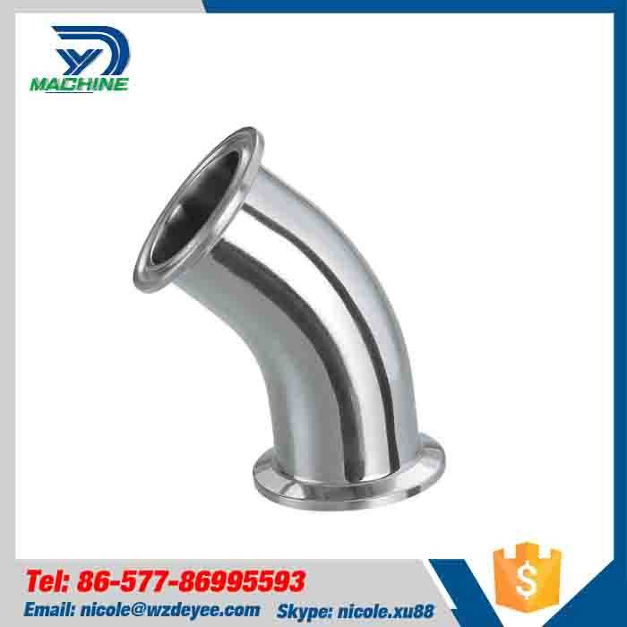 Mirror Polished Stainless Steel 45 Deg Tri Clamped Elbow