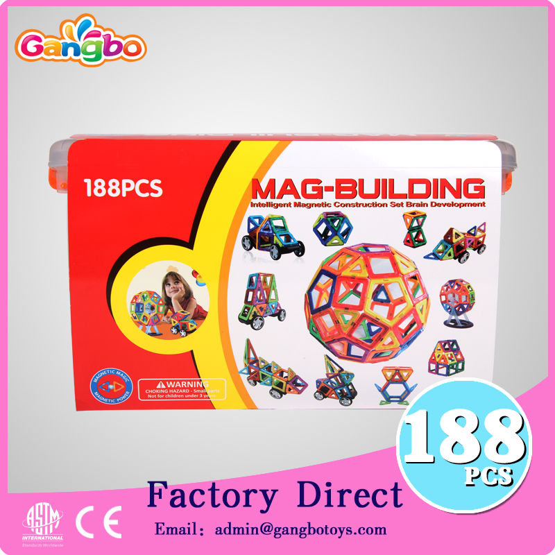 188 pcs Gangbo toys Popular electrical Magnetic Building magic trick toys