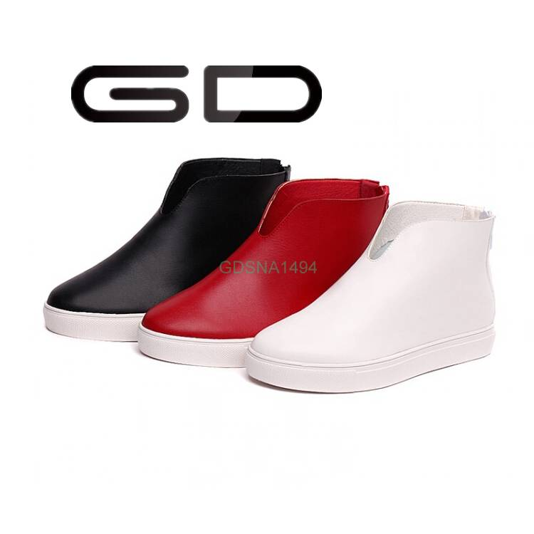 GD customized logo high cut red fashion loafer