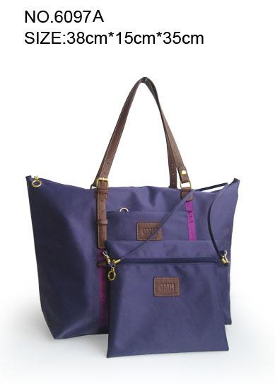 nylon Women's tote hand bag attached mini handbags