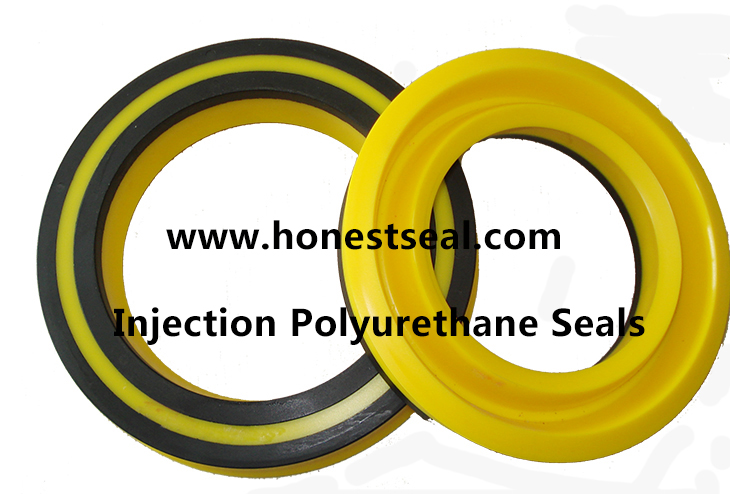 Polyurethane Rod Seals for Construction Equipment Injection PU rod Seal Double Lip Rod Seals