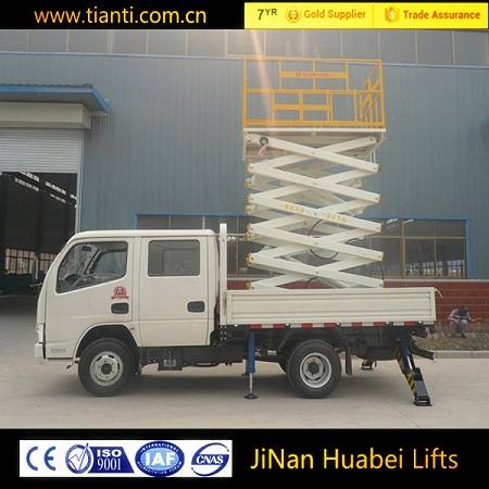 Diesel engine truck mounted lift with CE