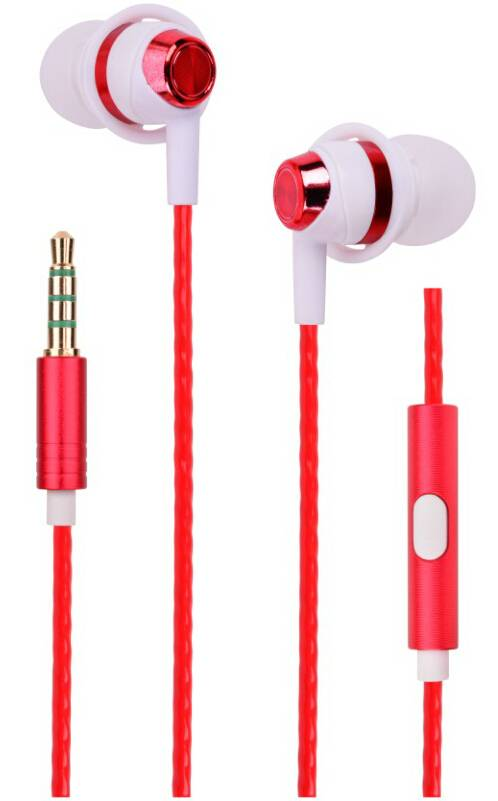 Metallic stylish stereo in-ear earphone/earbud with microphone and line-controlled