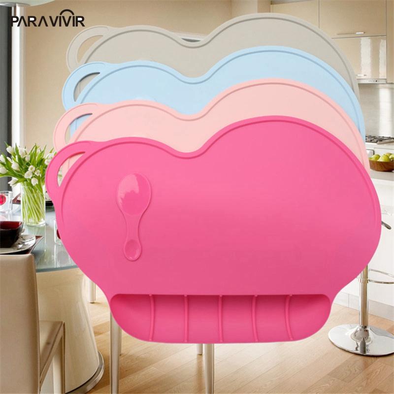 Portable Waterproof Coaster Solid Sucker Placemats For Children Non-slip Heat Resistant Mats&Pads