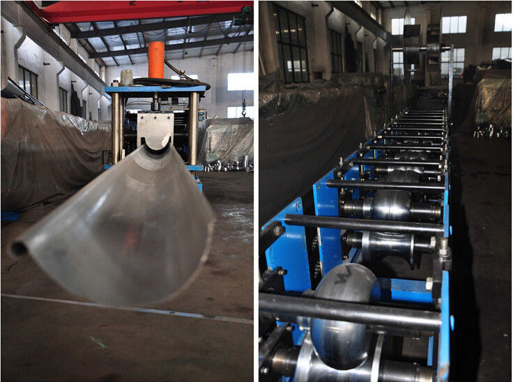 Half Round Rain Gutter Roll Forming Machine for Collecting Rain