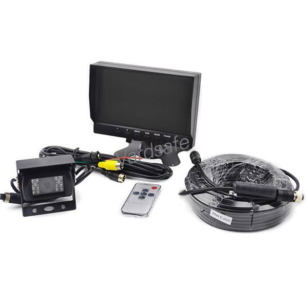 "Vardsafe Heavy Duty Rear View Camera With 7"" Inch TFT LCD Monitor And 20 Meters Cable Complete Kit"