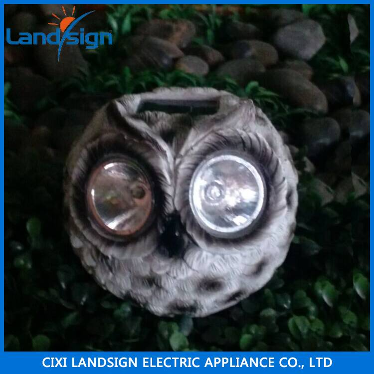 Rock shaped wholesale solar lamp series garden light type mini panel resin+glass solar light kit