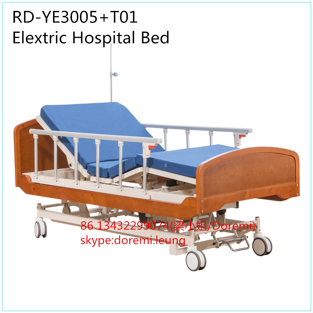 RD-YE3005A+T01 Wooden Homecare Bed Electric Hospital Nursing Home Bed