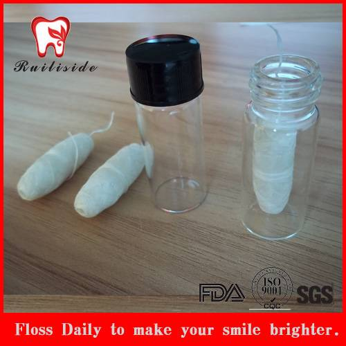 silk bottle packed  dental floss
