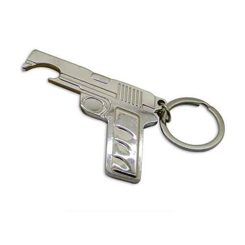 Cool Gift Zinc Alloy Gun Bottle Opener Keychain