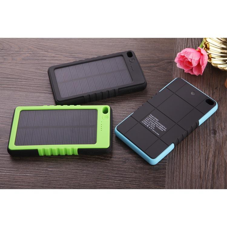 6000mah portable powerbank solar power bank charger mobile phone body panel 0.7 w solar powerbanks