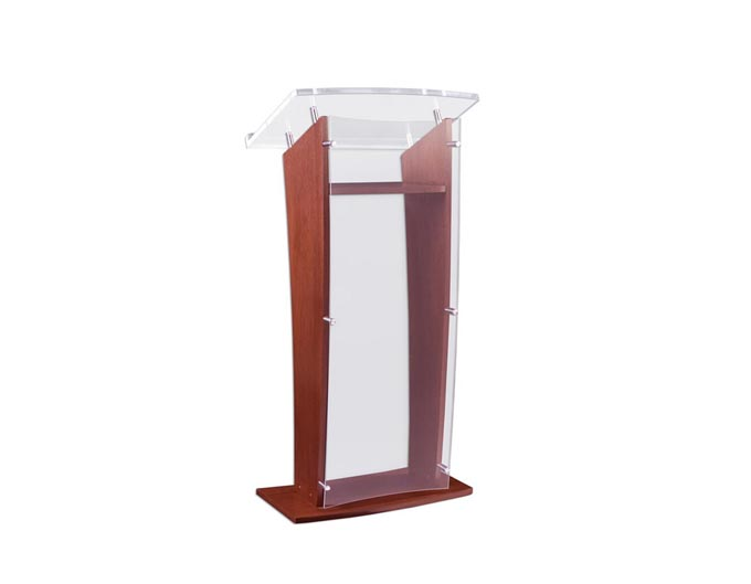 GMT Wood Podium with Acrylic Front Panel & Reading Surface