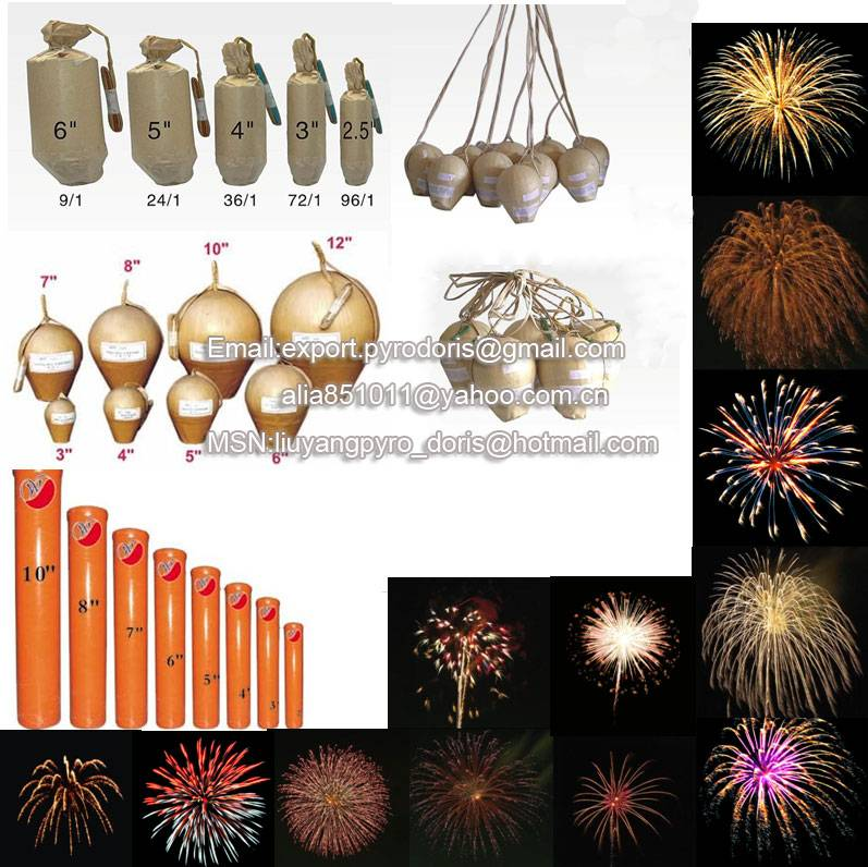 Aerial shells display fireworks 1.3G