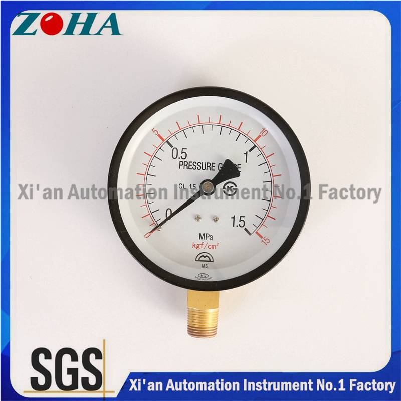 Double Scale Pressure Gauge Korea Market Hot Selling