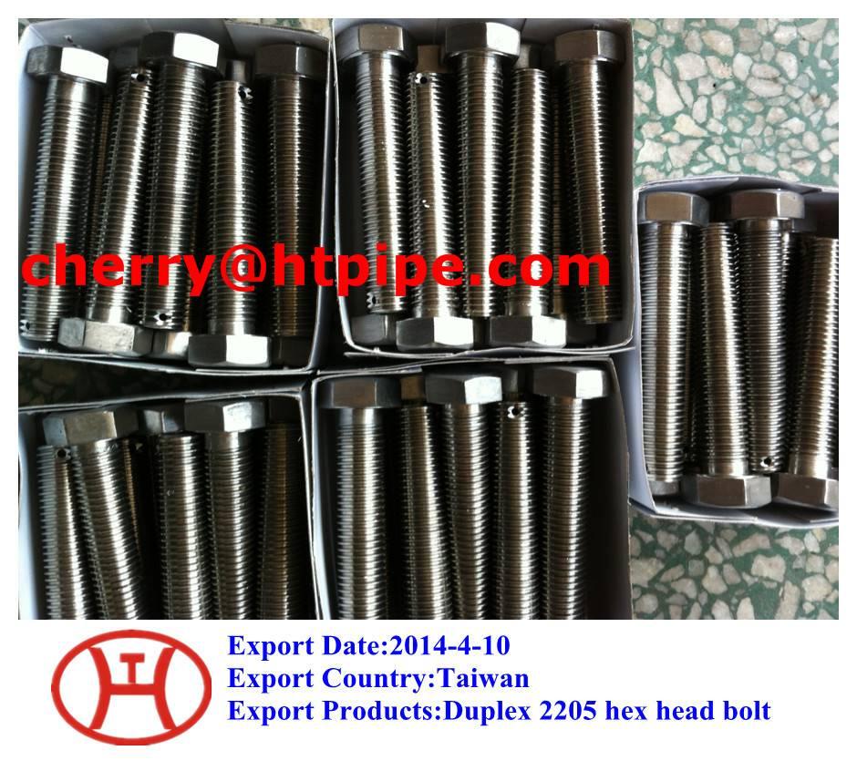 Duplex 2205 hex head bolt