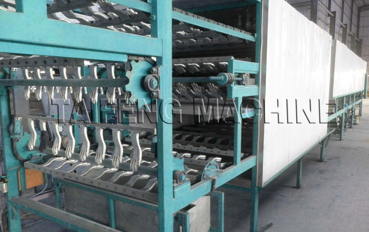 2017 Knitted Labor Glove Dipping Machine For Sale and Customerized By Buyer