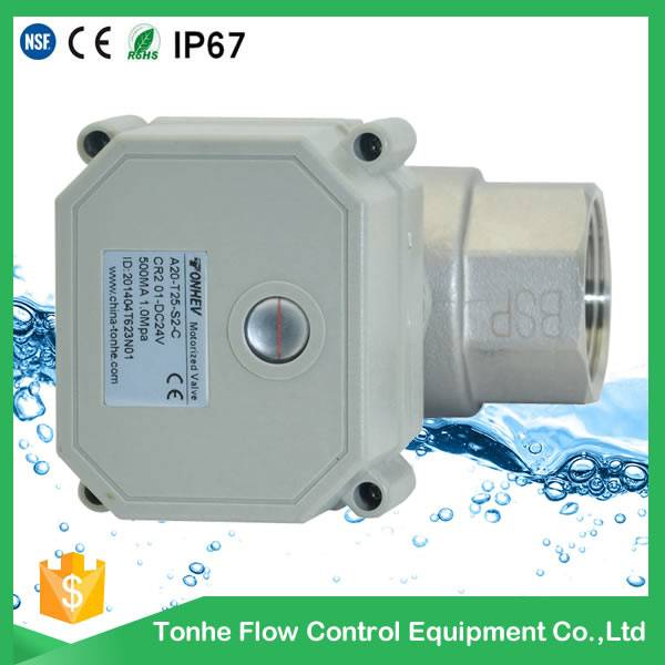 DN20 SS304 Material and Ball Structure Electric Actuated Ball Valve 3/4
