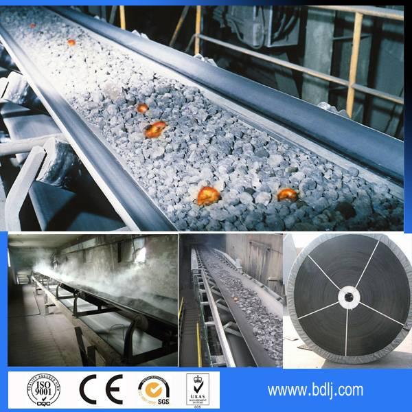 Industrial Heat Resistance Belt Conveyor Market Price used in Cement Coal Mine Industry