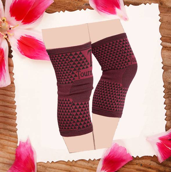 Hot sale sports knee support knitting fashion knee support sleeve