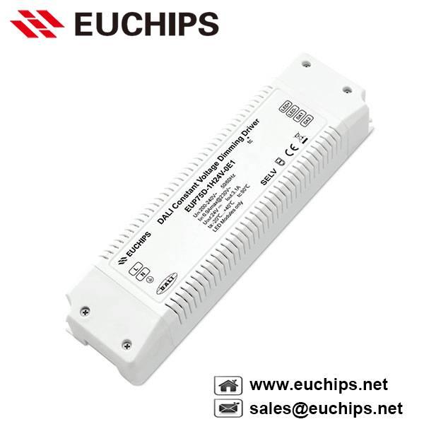 200-240VAC 75W 1 channel constant voltage dali dimmable led driver EUP75D-1H24V-0E1