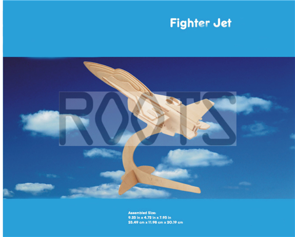 Fighter Jet-3D wooden puzzles, wooden construction kit,3d wooden models, 3d puzzle