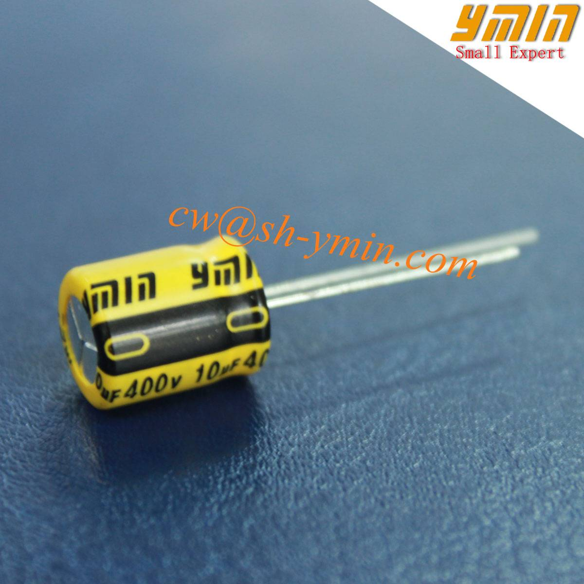 High Voltage 10 uF Capacitor Radial Aluminum Electrolytic Capacitor for LED Drivers and LED Power Su