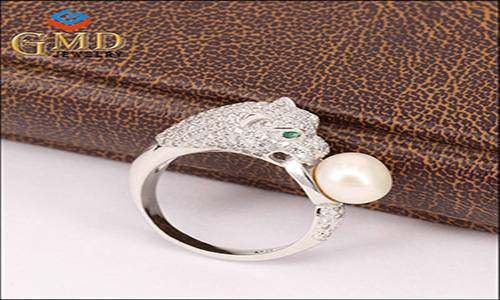 China supplier lastest design freshwater pearl charm 925 sterling silver rings