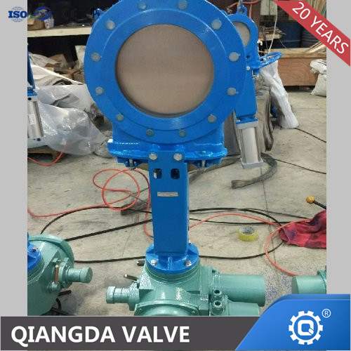 KNIFE GATE VALVE WITH ELETRIC MOTOR ACTUATION