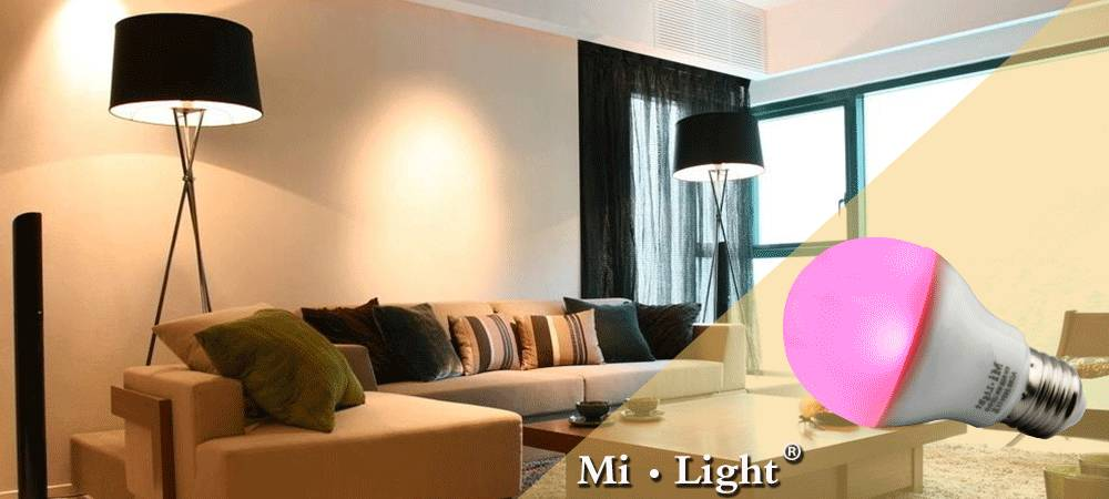 Mi Light 2.4G WIFI Smart LED Bulb 9W 6W 5W 4W RGBW RGBWW Global Bubble Dimmable GU10 E27 E14 + 4 Zon
