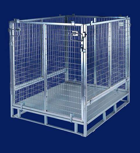 Good sale heavy duty galvanized collapsible cargo storage cage