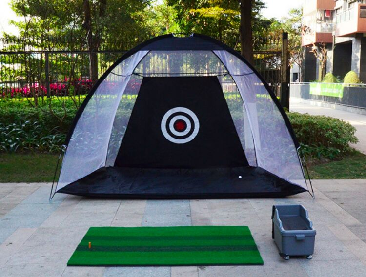 SURAVO Golf Hitting Net Practice Target Chipping Training Aids Practice at Backyard Collapsible