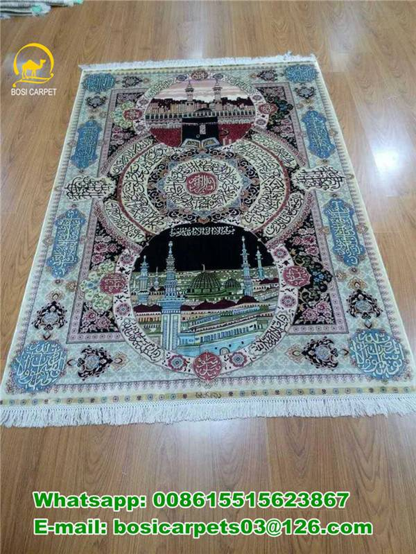 260lines Muslim Carpet handmade silk carpets Chinese rugs muslim carpet for pray