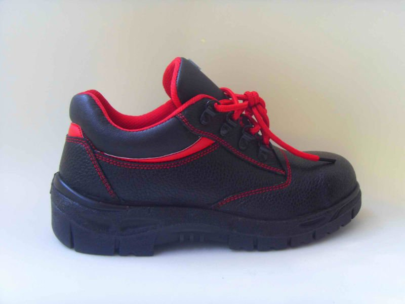 safety work shoes 8036 embossed leather pu outsole