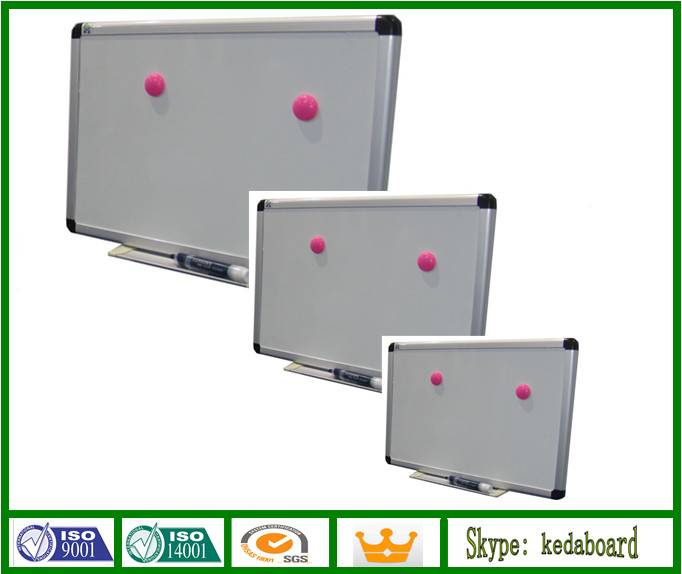 Magnetic Dry Erase White Board with Aluminium Frame