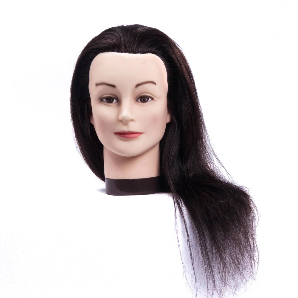 OEM accept 100% human hair mannequin doll barber training head