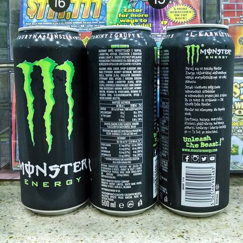 Monster Energy 500 ml English, Spanish